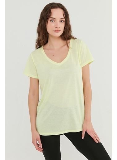 Penti Sarı V Neck Tişört Sarı